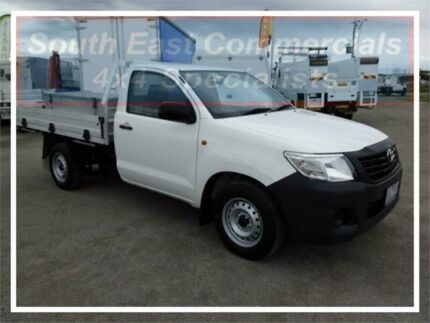 2013 Toyota Hilux TGN16R MY12 Workmate 4x2 White 5 Speed Manual Cab Chassis Pakenham Cardinia Area Preview