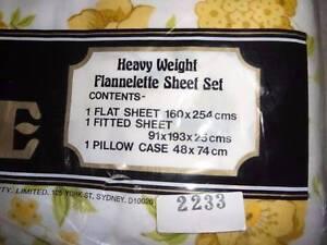 SINGLE BED QUALITY FLANNELETTE SHEET SET - BRAND NEW Peakhurst Hurstville Area Preview