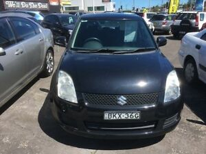 2009 Suzuki Swift EZ MY07 Upgrade LE Black 5 Speed Manual Hatchback Cardiff Lake Macquarie Area Preview