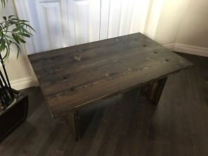 NEW Rustic Farmhouse Solid Wood Coffee Table