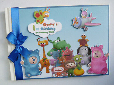 PERSONALISED BABY TV  ALL CHARACTERS BOY/GIRL BIRTHDAY GUEST BOOK - ANY - Baby Tv Characters