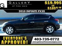 2010 Infiniti EX35 AWD V6 $189 Bi-Weekly APPLY NOW DRIVE NOW