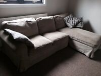 2 Seater Soaf with Chaise Longue - (Beige Colour)