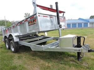 Galvanized 7X12 14K Dump Trailer