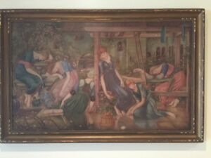 Original Oil on Canvass Maidens Sleeping Early 1800s
