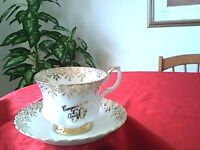 Cup/Saucer - Gold trim 50th Anniversay