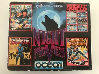 Night Moves Commodore 64 C64 Game Cassette Ocean- COMPLETE