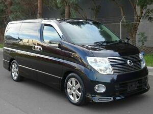 2008 Nissan Elgrand E51 HWS Limited Black 5 Speed Tiptronic Wagon Taren Point Sutherland Area Preview