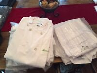 Mens chef jackets used but excellent condition laundered, various sizes