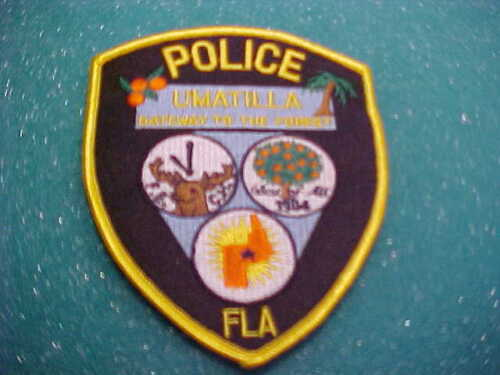 UMATILLA FLORIDA POLICE PATCH SHOULDER SIZE UNUSED TYPE 2 HAS ELK