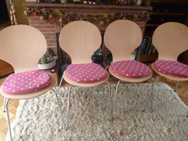 4 Stackable Bent Wood Chairs