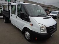 Ford Transit D/Cab Tdci 100Ps [Drw] Euro 5 TIPPER DIESEL MANUAL WHITE (2014)