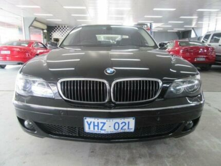 2007 BMW 740Li E66 MY05 Upgrade Black 6 Speed Auto Steptronic Sedan Fyshwick South Canberra Preview