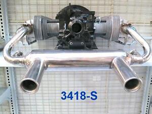 VW BEETLE KARMANN GHIA A-1 #304 S/STEEL GT STYLE EXHAUST SYSTEM EUROPEAN LOOKS