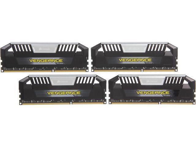 Corsair Vengeance Pro Series 4-Pack 32GB DDR3 DIMM Desktop Memory Kit Multi CMY32GX3M4A1600C9