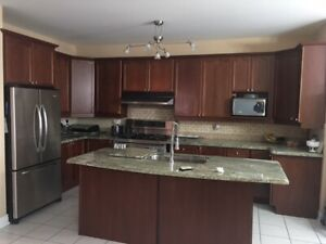 Complete Wooden Kitchen and Center Island with Granite top