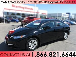 2015 Honda Civic LX | NO ACCIDENTS | 1 OWNER | FULLY SERVICED
