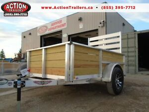 H&H ALUMINUM 5X8 HIGH SIDE UTILITY TRAILER - QUALITY, LOW PRICE!