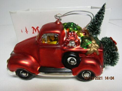 Dept .56 Mercury Glass Pick-up Truck Christmas Ornament/OB (1126-21)