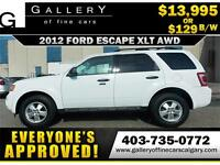 2012 Ford Escape XLT AWD $129 bi-weekly APPLY NOW DRIVE NOW