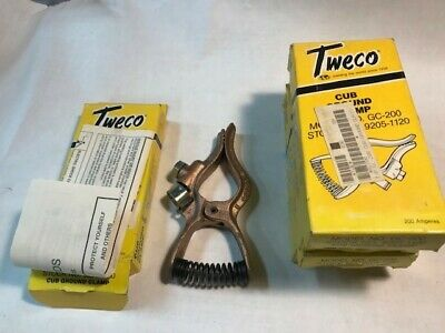 Genuine Tweco 200 Amp Welding Ground Clamp Copper Gc-200 Lot Of 4