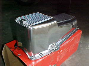 SBC Polished Aluminum Finned Oil Pan Chevy 55/79-80/85-86 UP London Ontario image 1