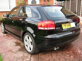Audi A3 2.0 TDI Sport, 3 Door, Gloss Black.