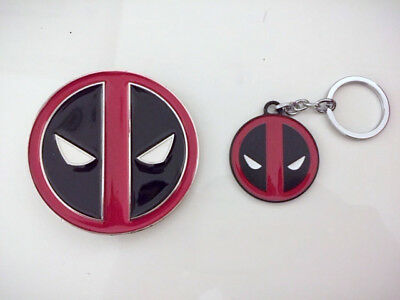 Deadpool X-Men Metal Fashion Belt Buckle with Keyring Gift Fast Ship From US