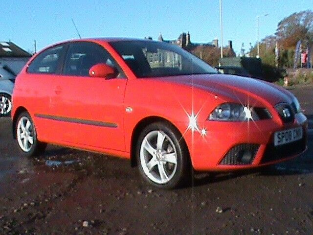 SEAT IBIZA 1.4 SPORT 3 DR RED NEW FRONT/REAR DISCS/PADS FITTED 1 YRS MOT CLICK ON VIDEO LINK