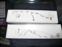 2 Brand new necklaces and earrings sets FREE DELIVERY O.B.O