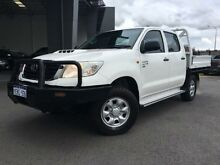 2012 Toyota Hilux KUN26R MY12 SR (4x4) Glacier White 5 Speed Manual Dual Cab Chassis Beckenham Gosnells Area Preview