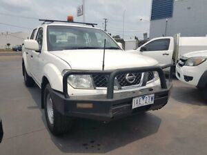 2013 Nissan Navara D40 MY13 RX (4x4) White 5 Speed Automatic Dual Cab Pick-up