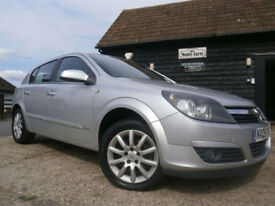 05 VAUXHALL ASTRA 1.8i 16v AUTOMATIC ELITE LOW MILEAGE 56K SILVER/BLACK LEATHER