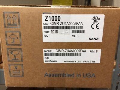 New In Box - Yaskawa Cimr-zu4a0005faa Variable Speed Drive 480v 3hp Z1000