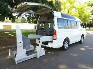2010 Toyota HiAce KDH206 2010 Wheelchair Access Vehicle 4WD White Automatic Wheelchair Transporter Concord Canada Bay Area Preview