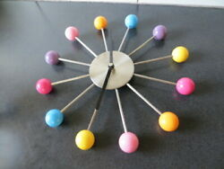 George Nelson Style Mid Century Modern Multi Color Ball Wall Clock Nice