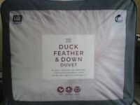 M&S duck feather and down duvet - 13.5 tog (9 tog + 4.5 tog). Super King. Brand new.
