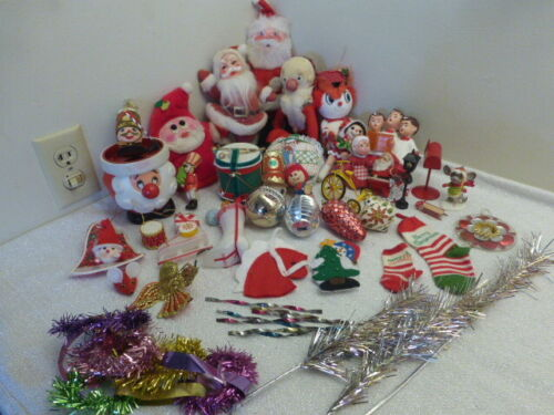 Huge Lot of Vintage Kitschy Christmas Decorations and Ornaments Crafts Lot 2