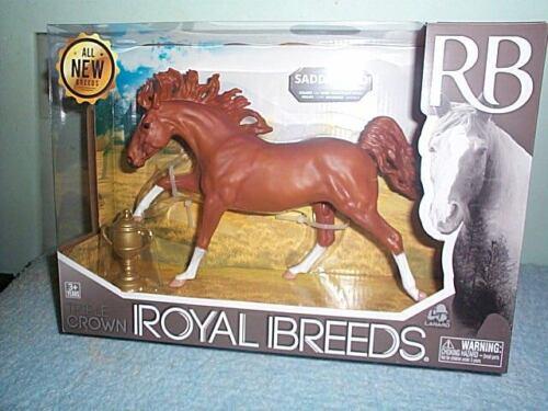 Royal Breeds Large Saddlebred Plastic Model Horse Lanard Toys New In Box!
