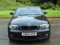 BMW 1 SERIES 2.0 120D SPORT PLUS EDITION 2d 175 BHP (black) 2012