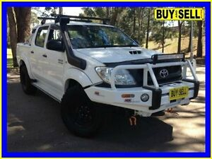 2010 Toyota Hilux KUN26R 09 Upgrade SR (4x4) White 5 Speed Manual Dual Cab Pick-up Lansvale Liverpool Area Preview