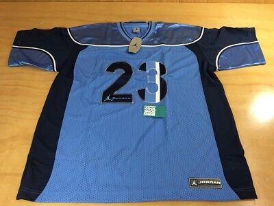 2003 Nike Michael Jordan 23 Jumpman Pro Football Jersey 184428 448 Blue XXL 2XL image