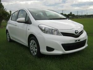 2013 Toyota Yaris NCP131R YRS White Hatchback West Ballina Ballina Area Preview