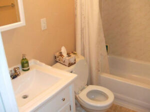 Two bedroom west side basement suite available now