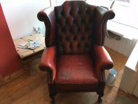 Chesterfield ladies chair Ox Blood red