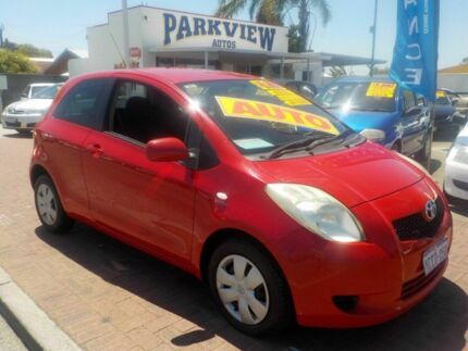 2005 Toyota Yaris NCP90R YR Red 4 Speed Automatic Hatchback Victoria Park Victoria Park Area Preview