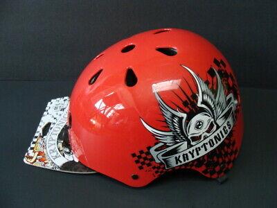 NWT Kryptonics Youth Helmet Multi-Sport Red Size M/L Skateboarding Bike NEW