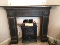Antique fire place - Brushed cast iron