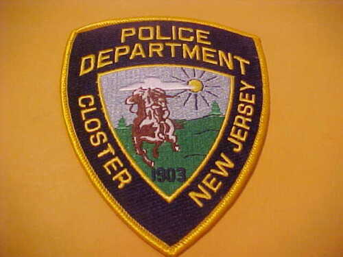 CLOSTER NEW JERSEY POLICE PATCH SHOULDER SIZE UNUSED M