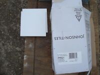 White Gloss Tiles 15cm x 15cm - 45 pieces